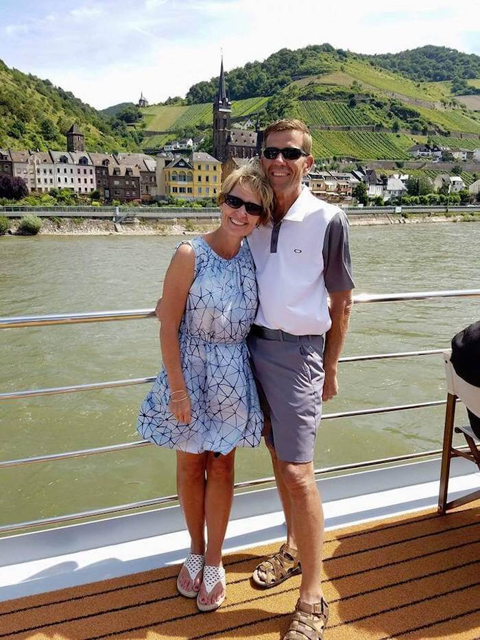 Rhonda and Todd Moss of Extra Touch Tours on Rhine cruise, Germany
