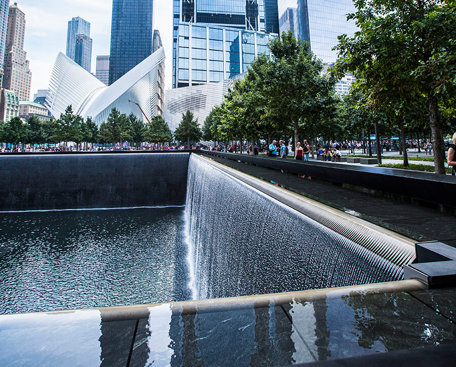 North pool of the 9/11 Memorial plaza, Lower Manhattan, New York City