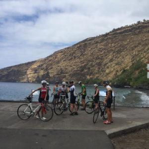 Cycling group, Big Island Bike Tours, Waimea, Hawaii