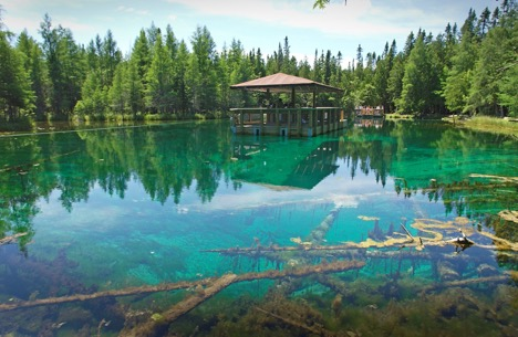 The Big Springs of Michigan near Manistique, Mich.