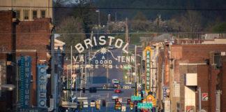 Bristol sign at night