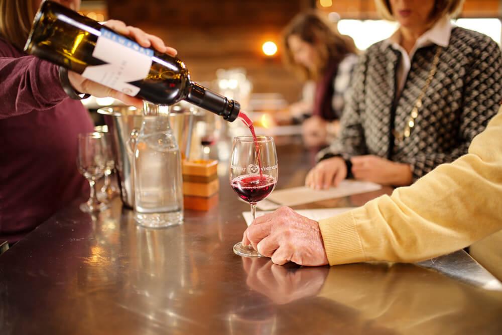 Wine tasting at Newport Vineyards in Newport, Rhode Island
