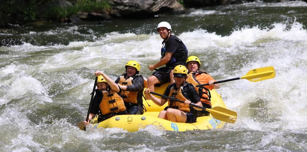 Whitewater rafting, Pigeon River, Hartford, Tenn.