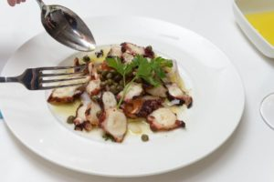 Grilled octopus dish, Estiatorio Milos, Lip Smacking Foodie Tours, Las Vegas, Nev.