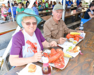 Lobster dinner, Maine Lobster Festival, Rockland, Maine