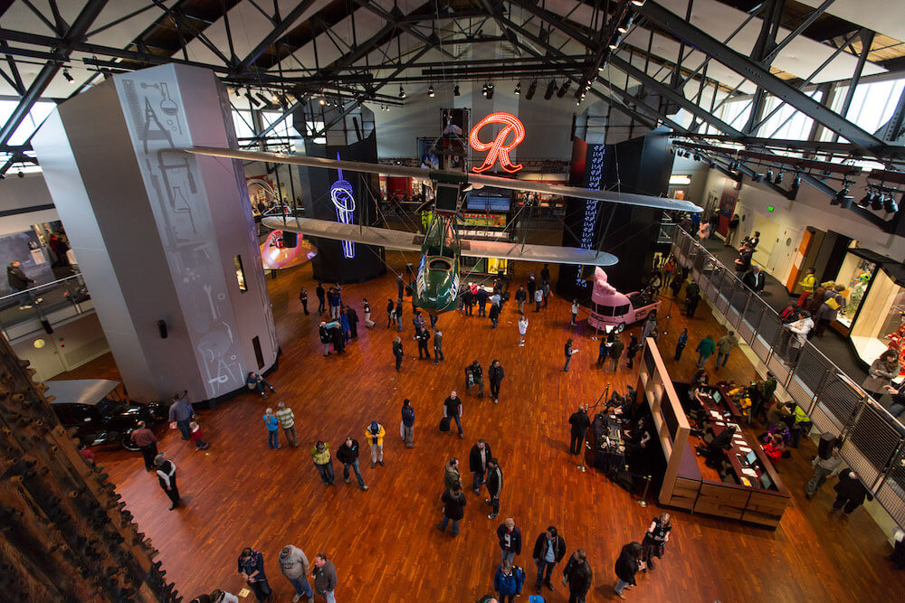 Main hall, Museum of History & Industry, Seattle, Washington,