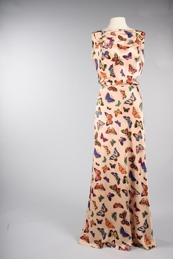 """Peach gown, """"Seattle Style: Fashion/Function,"""" Seattle's Museum of History & Industry Photo: MOHAI"""