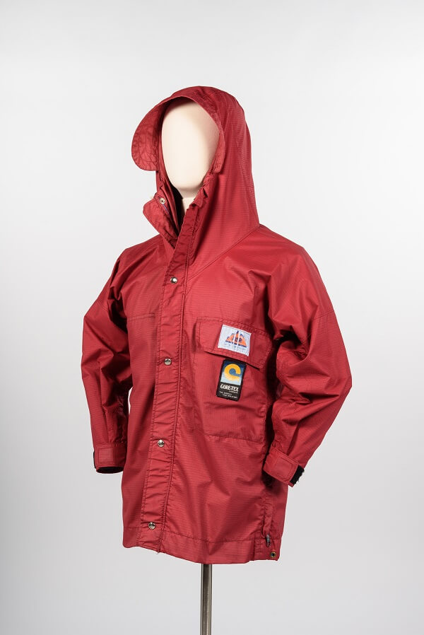 Red Gore-Tex jacket, Seattle Style: Fashion/Function, Museum of History & Industry, Seattle, Wash.