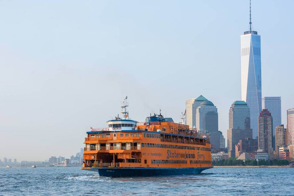 Staten Island Ferry during daytime, Lower Manhattan, New York City