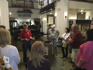 Director Darrel Nelson guides group, Adams Museum, Deadwood, S.D.