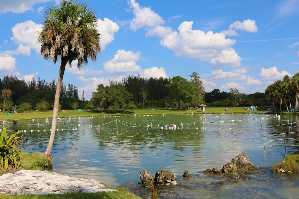Warm Mineral Springs Park in Sarasota, Florida