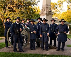 Gen. U.S. Grant and Civil War reenactors, Galena, Ill.