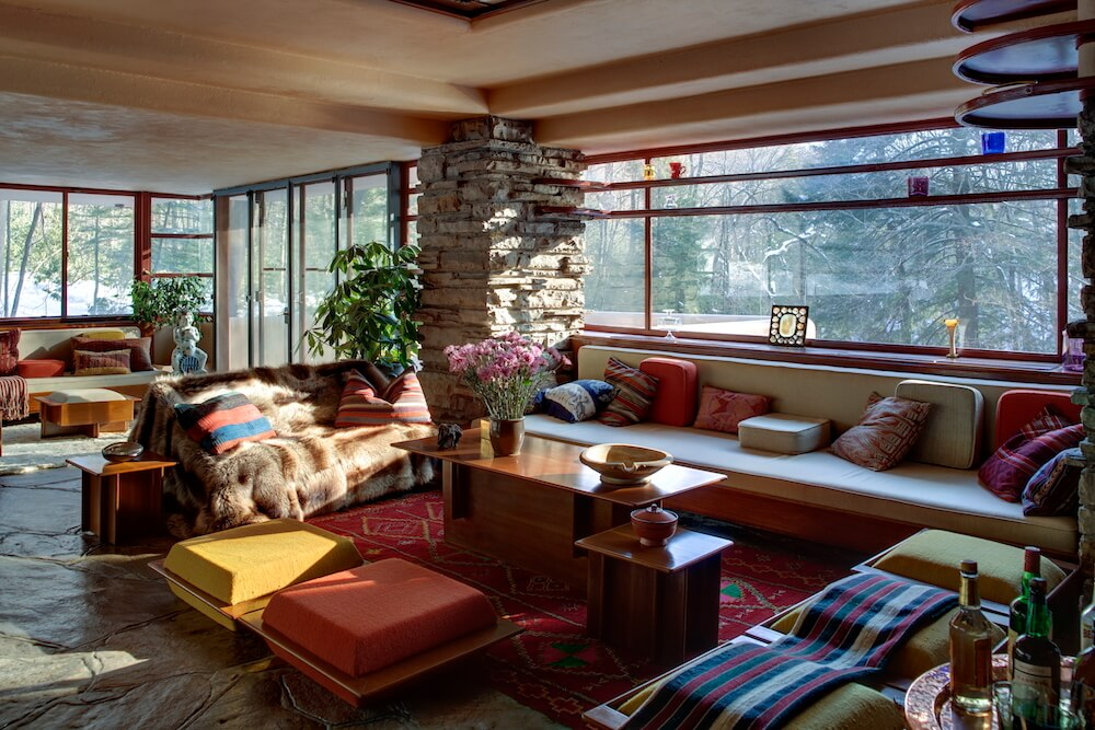 Fallingwater is the only major Frank Lloyd Wright work to come into public domain with its original furnishings and artwork intact. Credit: Western Pennsylvania Conservancy architecture attractions
