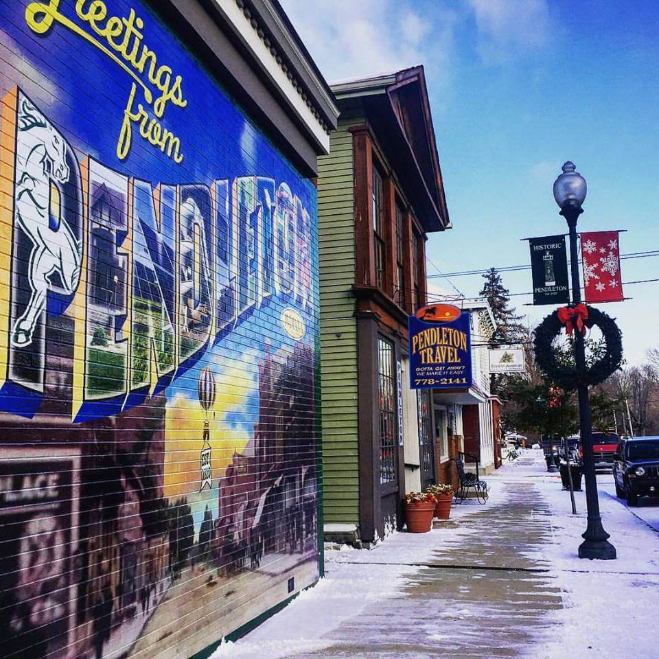 Downtown Pendleton, Ind. Credit: Anderson/Madison County Visitors Bureau