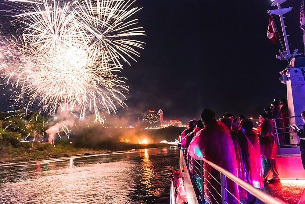 Fireworks with Hornblower Niagara Cruises in Niagara Falls, Ontario, Canada