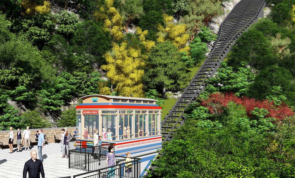 Hornblower Niagara Funicular in Niagara Falls, Ontario, Canada