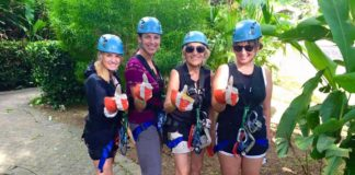 Zip line participants, Rainforest Adventures, Costa Rica pura vida
