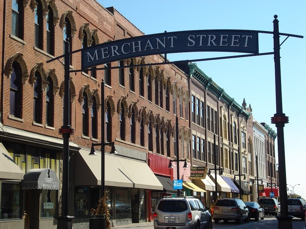 Merchant Street, Decatur, Ill. Credit: Decatur Area CVB