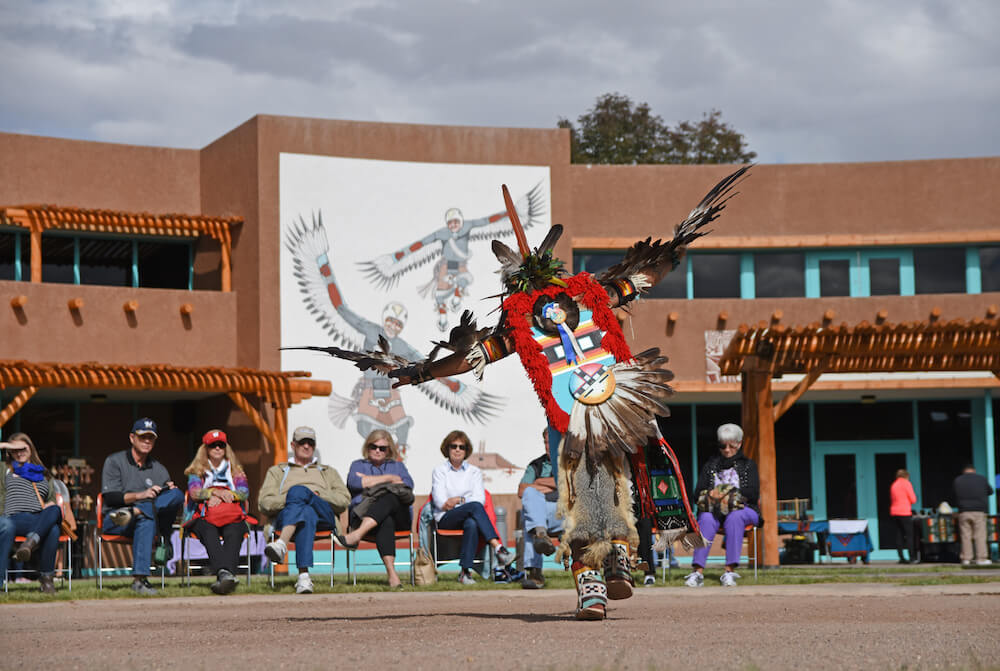 Cellicion Dance Group from Zuni Pueblo at Indian Pueblo Cultural Center, Albuquerque, N.M. Credit: Joel Wigelsworth American Indian Week