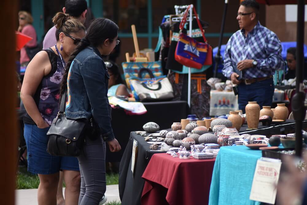 Courtyard vendors, Indian Pueblo Cultural Center, Albuquerque, N.M. Credit: Joel Wigelsworth