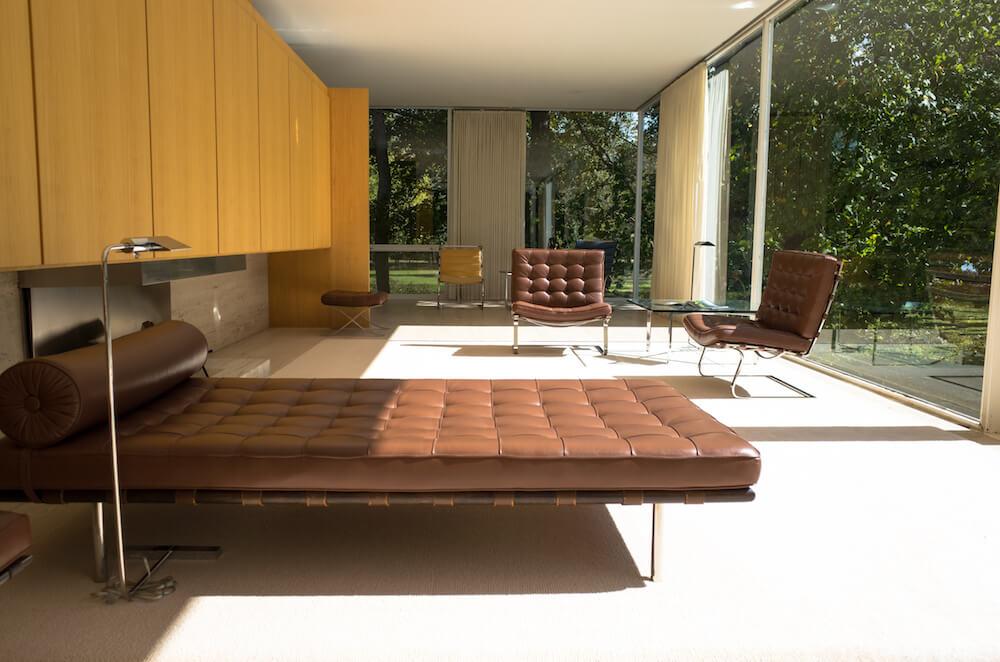 Interior, The Farnsworth House, Plano, Ill. Credit: James Cardis/Aurora Area CVB