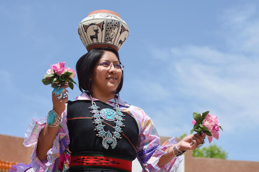 Zuni Olla Maidens from Zuni Pueblo at Indian Pueblo Cultural Center, Albuquerque, N.M. Credit: Joel Wigelsworth American Indian Week