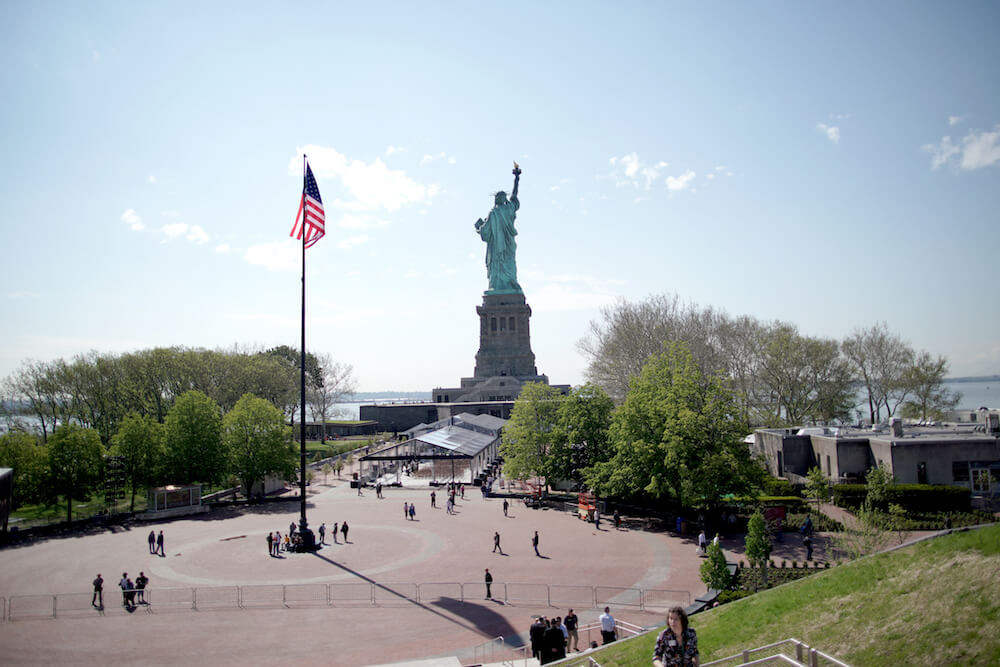 A view of the Statue of Liberty from the Statue of Liberty Museum on May 16, 2019, in New York City. Credit: Jemal Countess/Getty Images for Statue of Liberty-Ellis Island Foundation