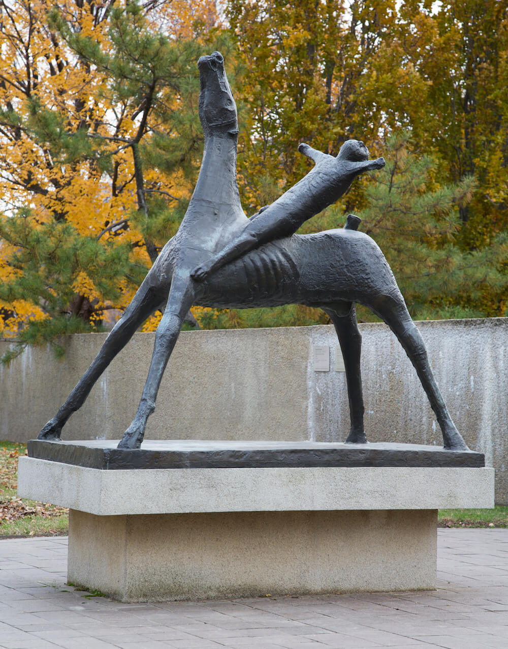 Marino Marini, Horse and Rider, 1952-1953 Credit: Cathy Carver Padnos Rooftop Sculpture Garden