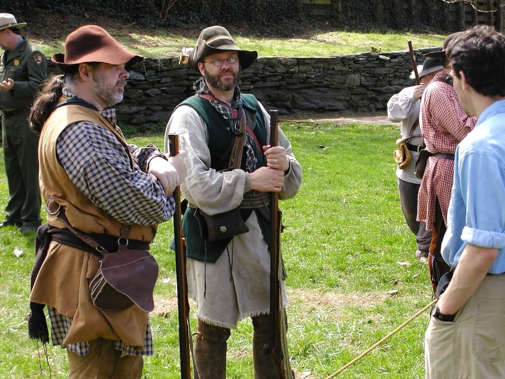 Costumed interpreters at Harpers Ferry National Historical Park in Harpers Ferry, West Virginia
