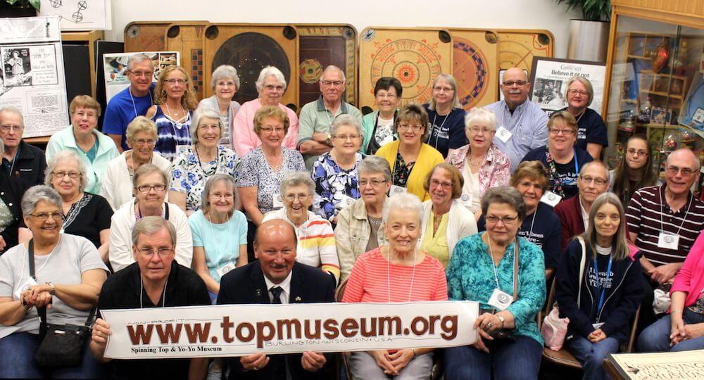 Tour group at Spinning Top & Yo-Yo Museum