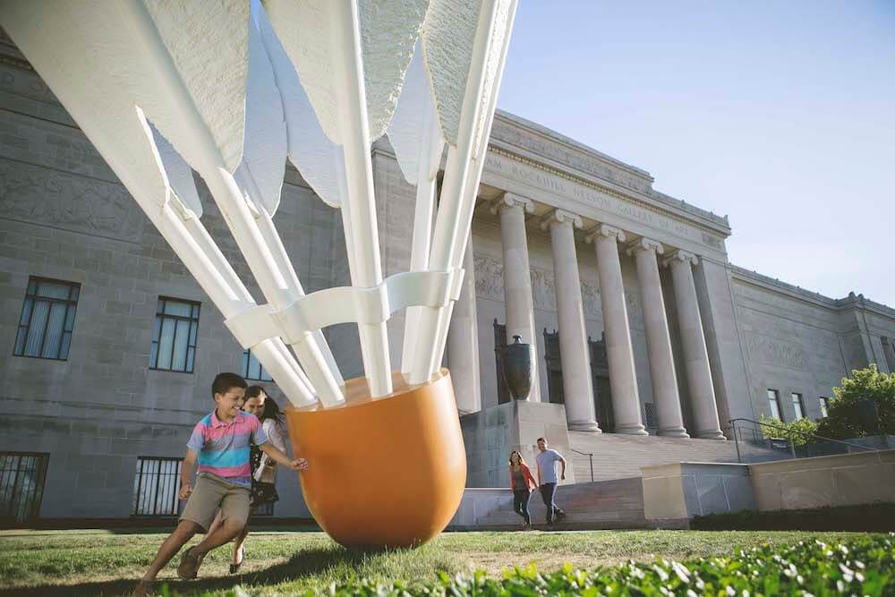 The Nelson-Atkins Museum of Art in Kansas City, Missouri