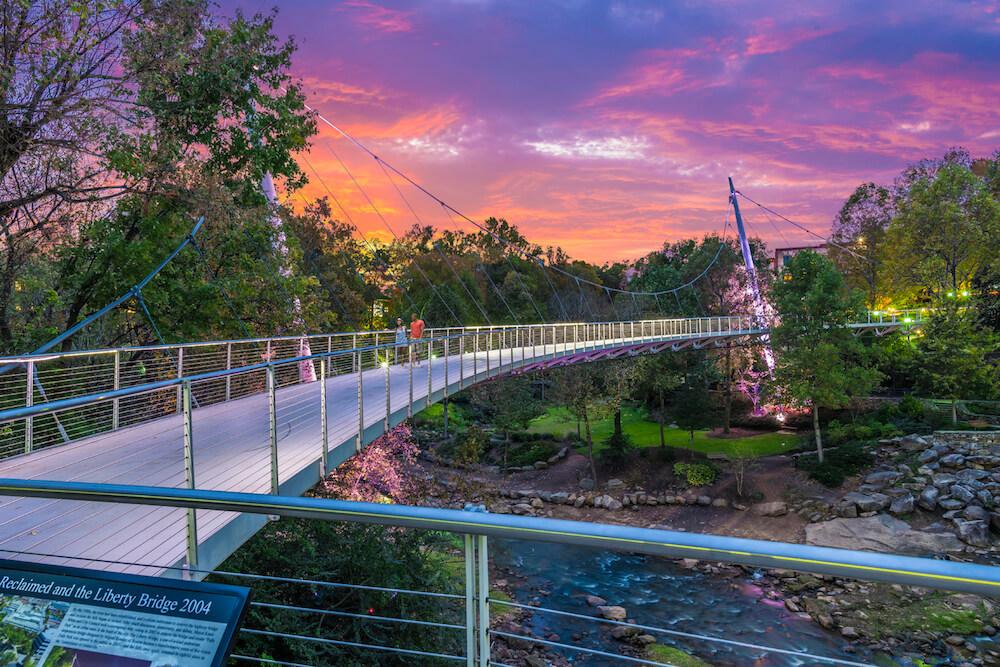 Falls Park in Greenville, South Carolina