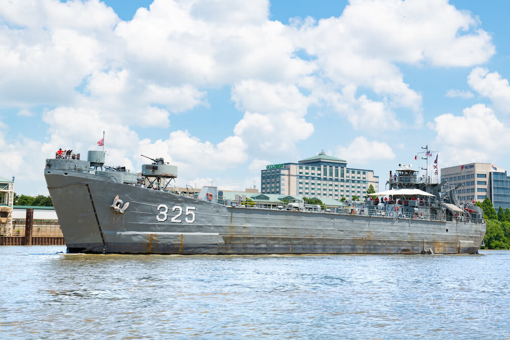 LST 325 on Evansville riverfront