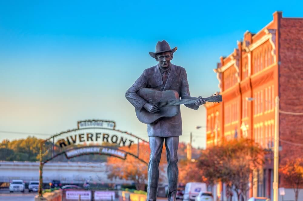 Hank Williams statue in Montgomery, Alabama