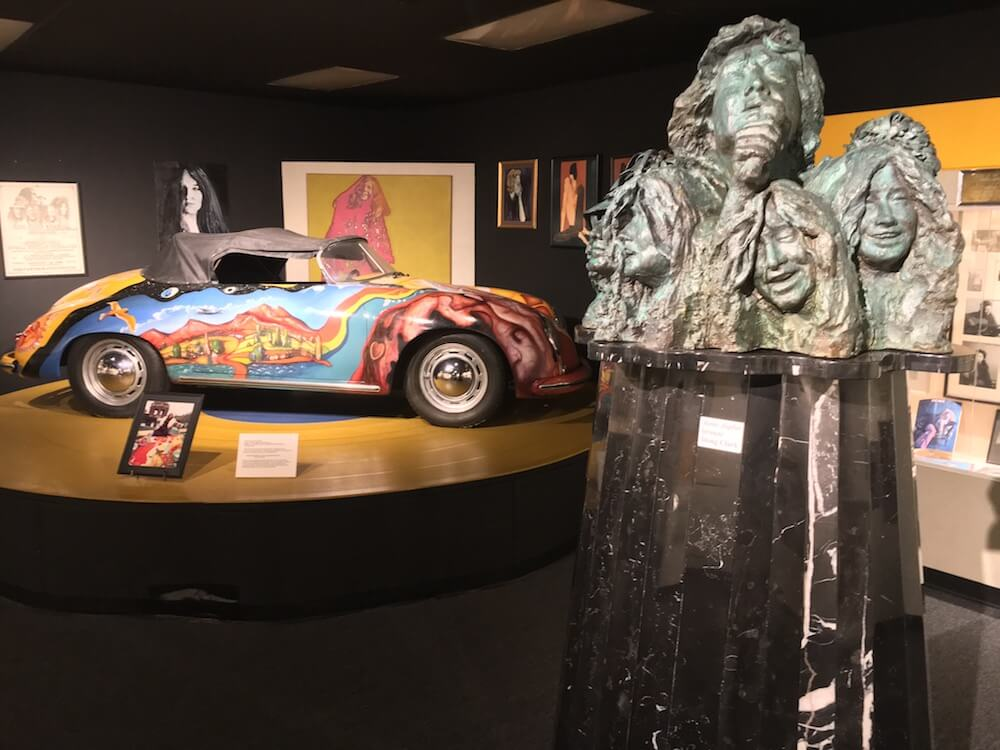 Janis Joplin music exhibit at the Museum of the Gulf Coast in Port Arthur, Texas