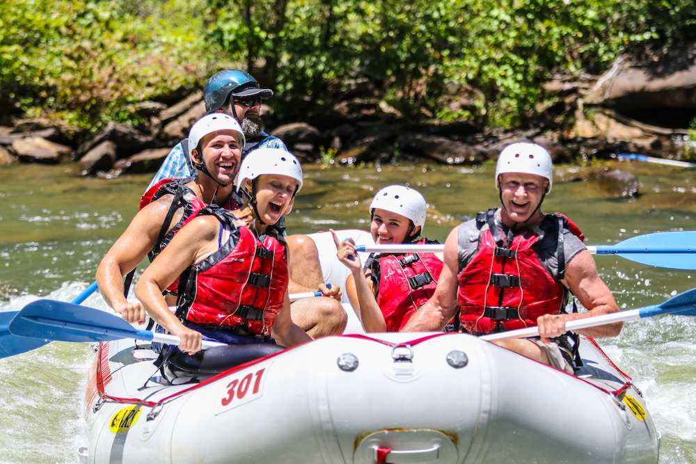 Whitewater rafting with Rolling Thunder River Company in McCaysville, Georgia