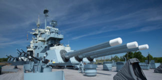 Battleship North Carolina deck
