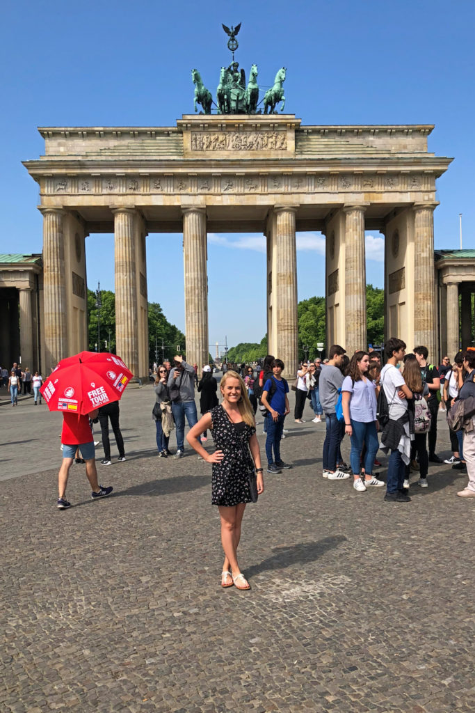 Associate Editor Cortney Erndt, Brandenburg Gate
