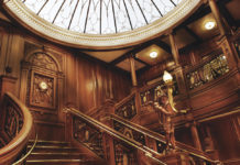 Grand Staircase at the Titanic Museum Attraction in Branson, Missouri