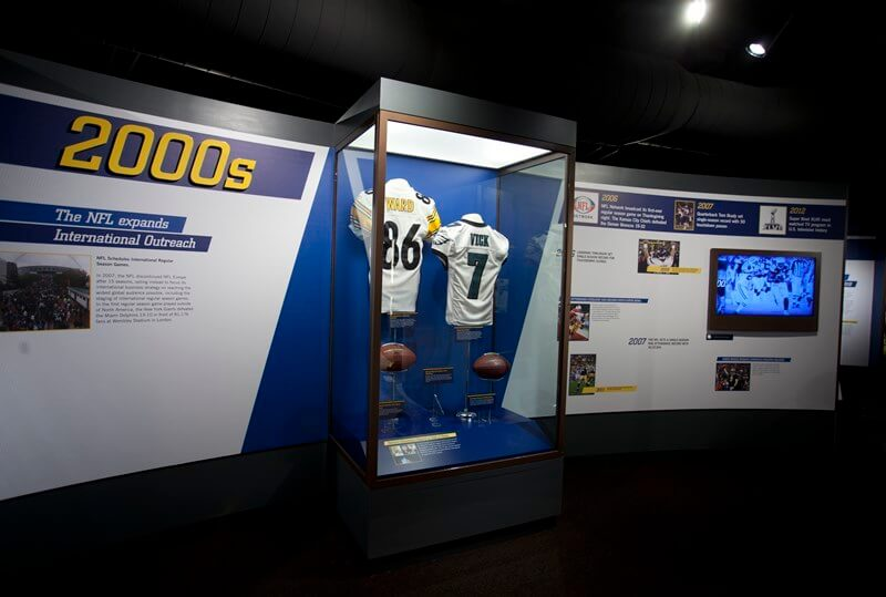 Exhibit at pro football hall of fame