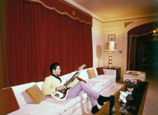 Living room at Graceland in Memphis, Tennessee