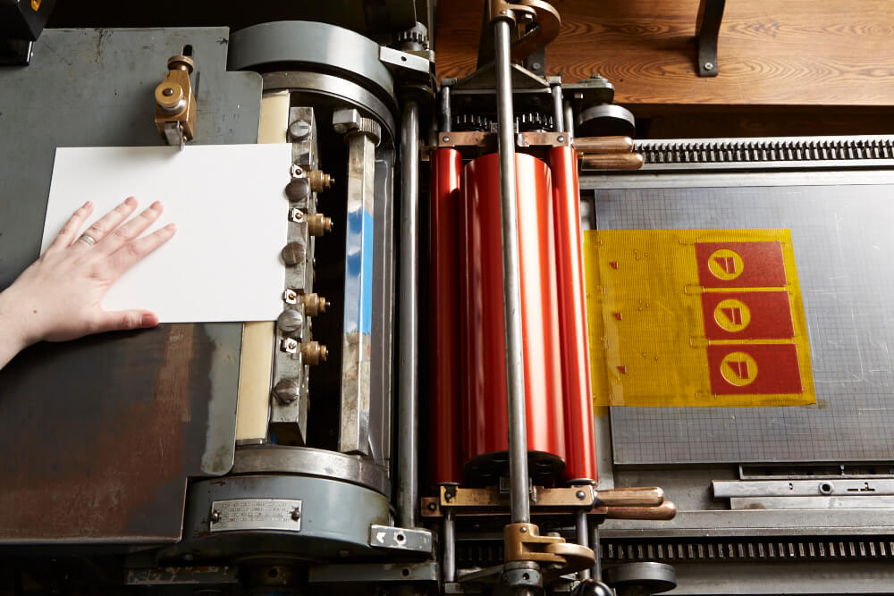 Printing press at Igloo Letterpress
