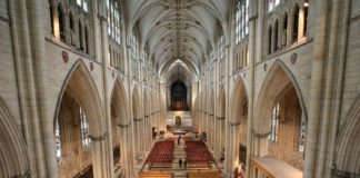 York Minster England interior