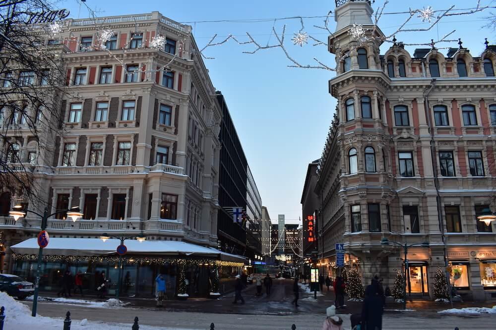 Downtown Helsinki Finland