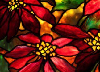Tiffany glass shade