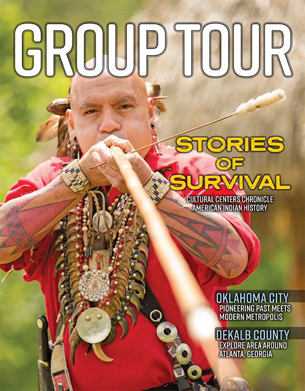 The cover of the June 2020 issue of Southeast/West Group Tour Magazine