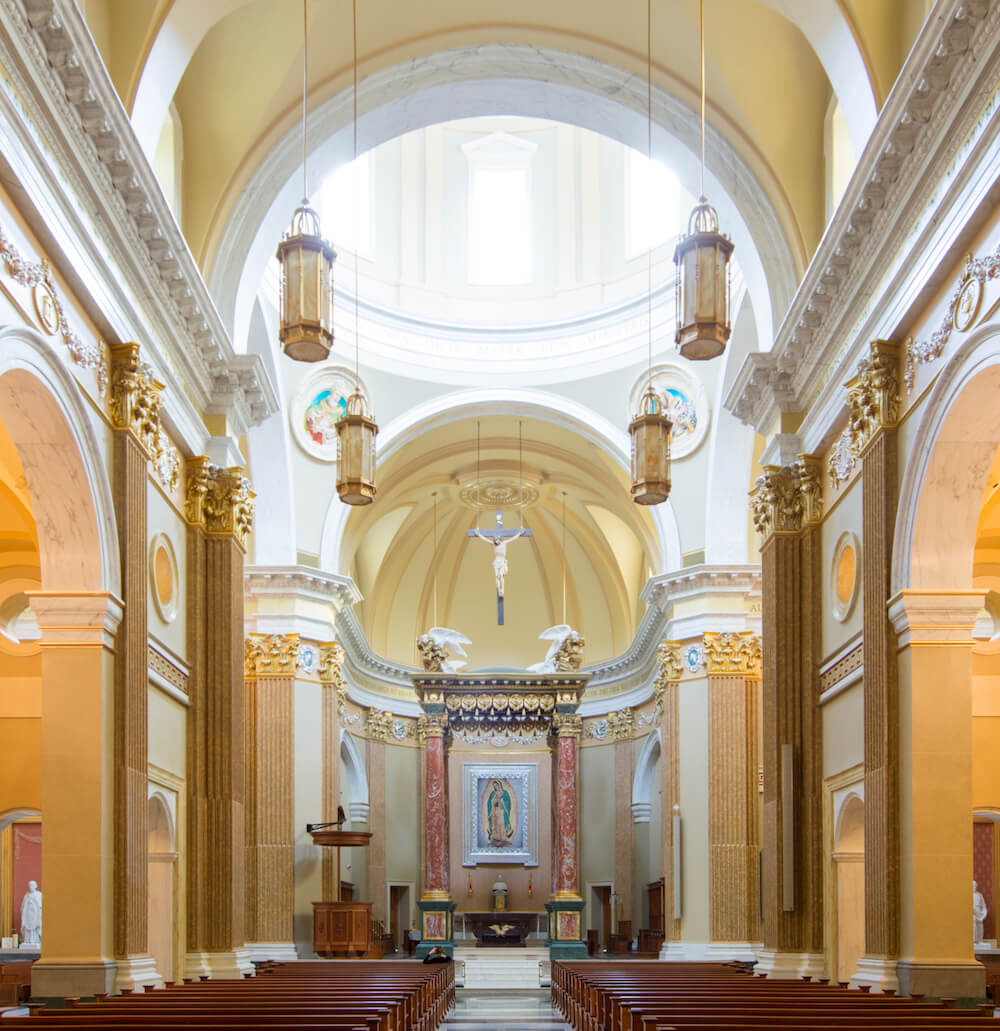 interior of Shrine of Our Lady of Guadalupe