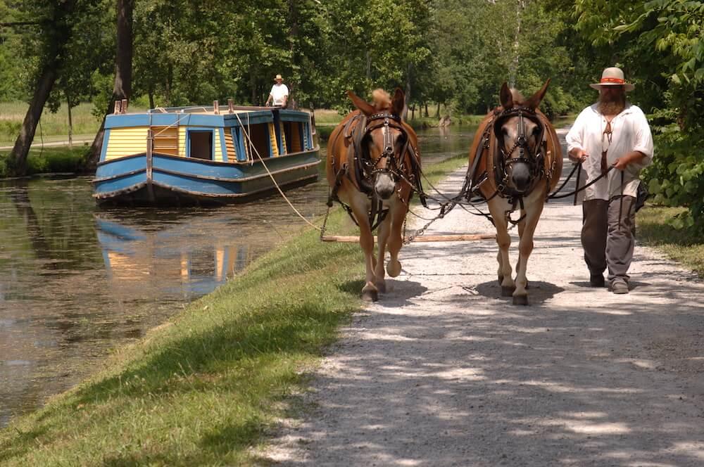 Miami County Ohio canal boat