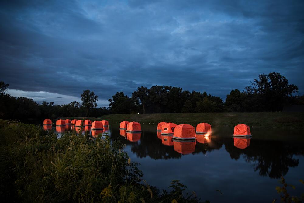 Miami County Ohio river camping