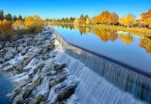 Waterfall on the Snake River, Idaho Falls